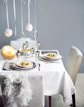 table setting natale bianco