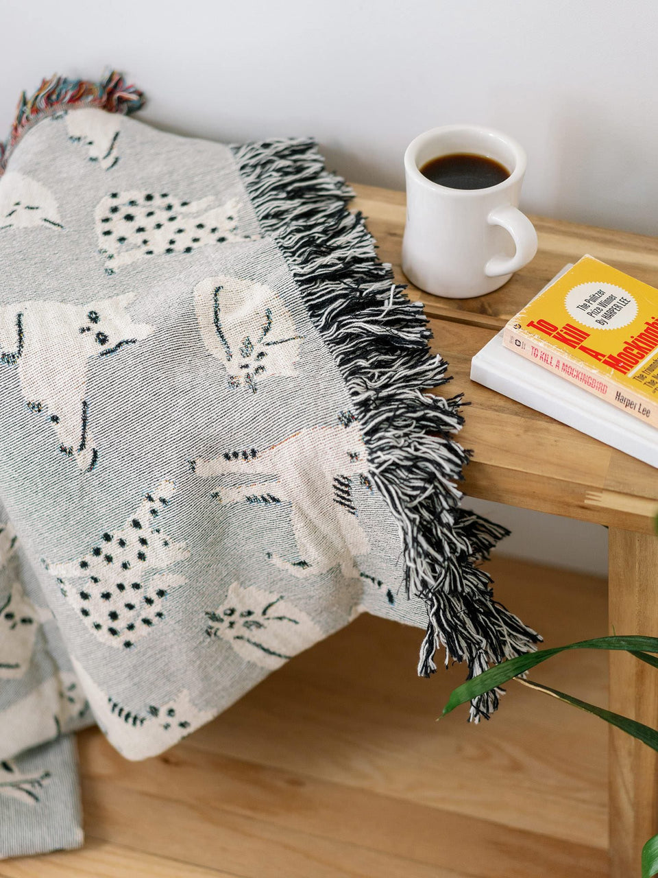 Grey Cats Throw Blanket