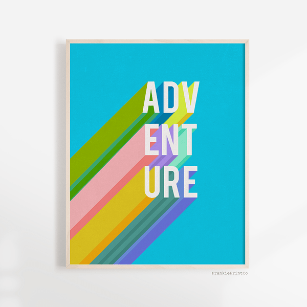 Adventure in Blue Art Print