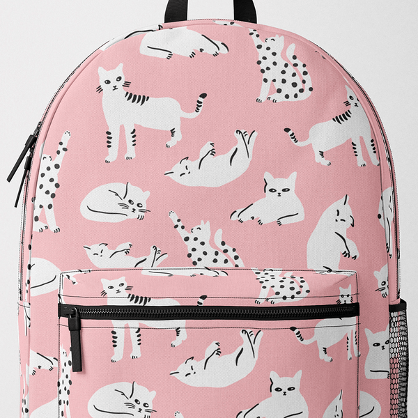 Pink Cats Backpack