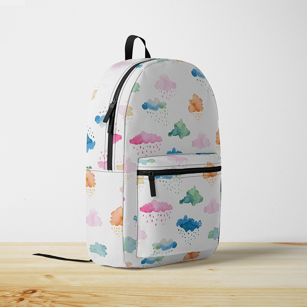 Watercolor Clouds Backpack