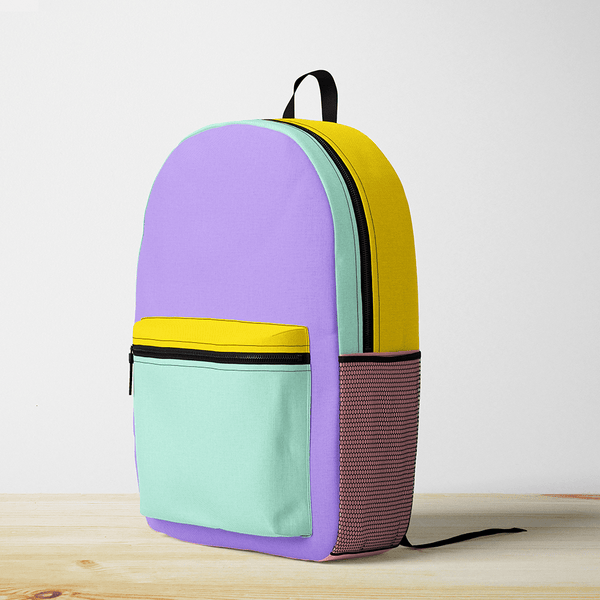 Bright Color Block Backpack