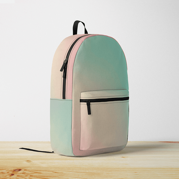 Mint & Pink Gradient Backpack
