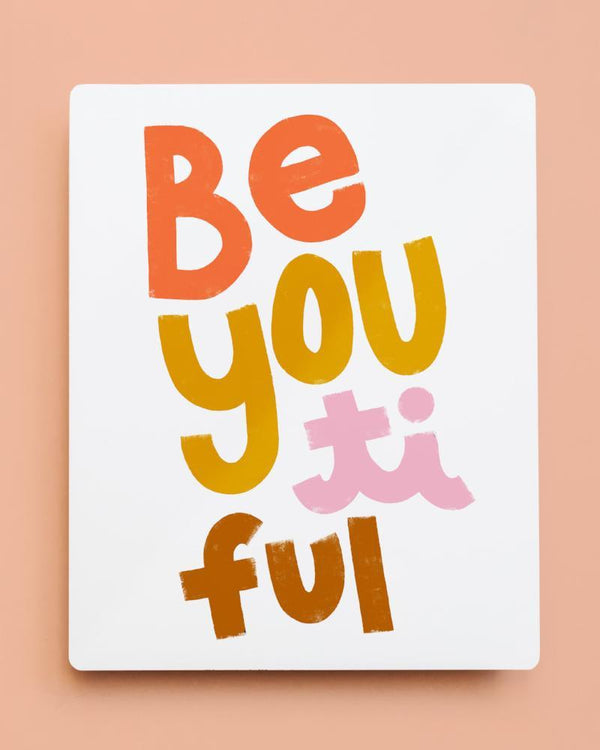 'BeYOUtiful' Metal Wall Art