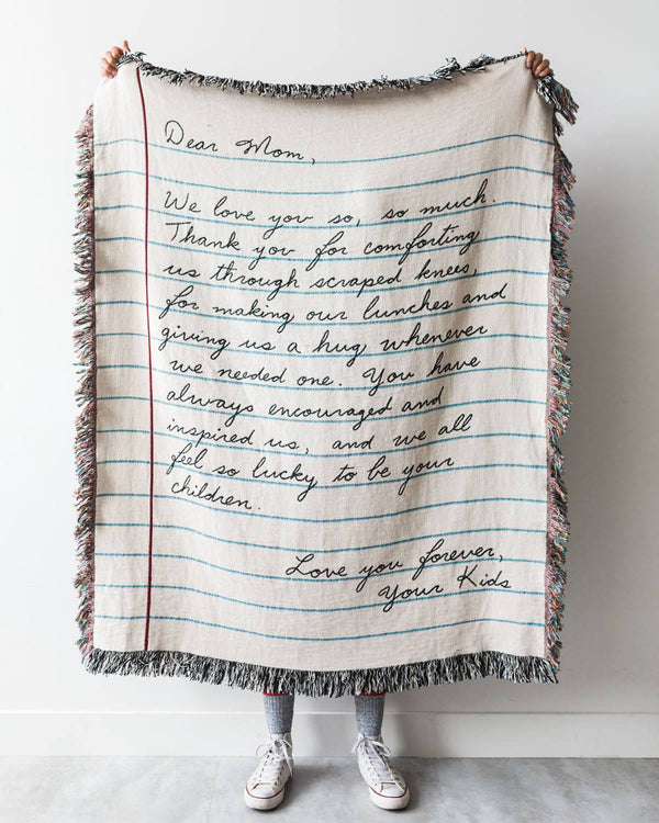 Love Letter Blanket: Handwriting
