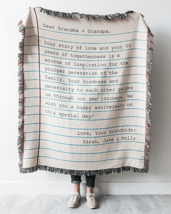 Love Letter Blanket: Typewriter