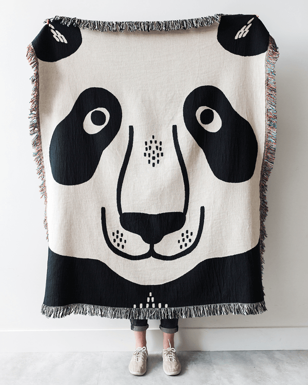 Panda Woven Throw Blanket