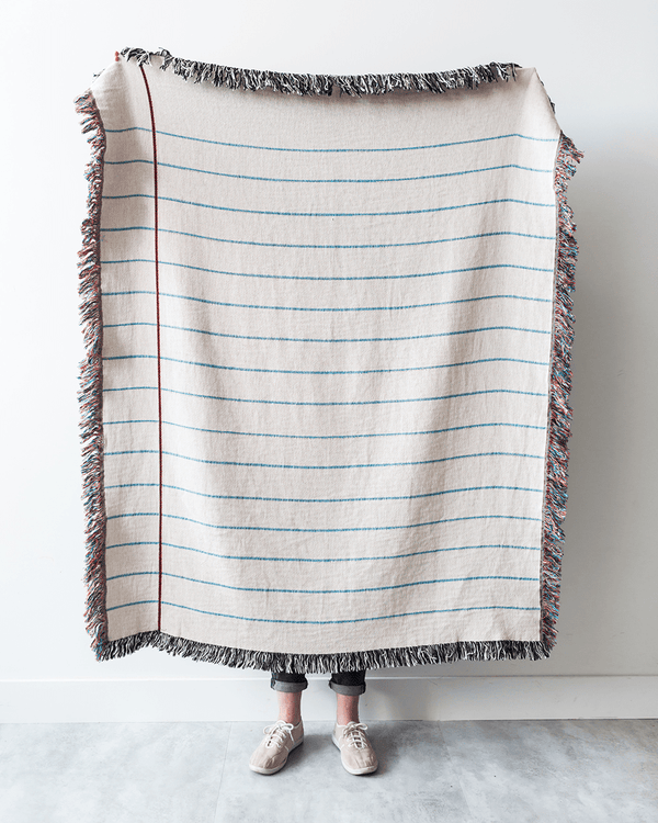 Lined Paper Throw Blanket