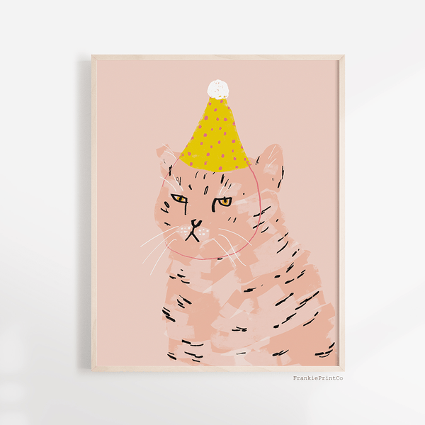 Party Cat Art Print