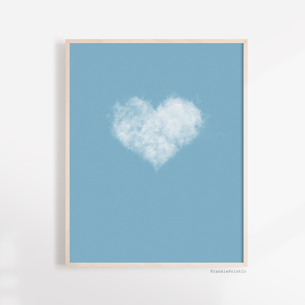 Cloud Heart Art Print