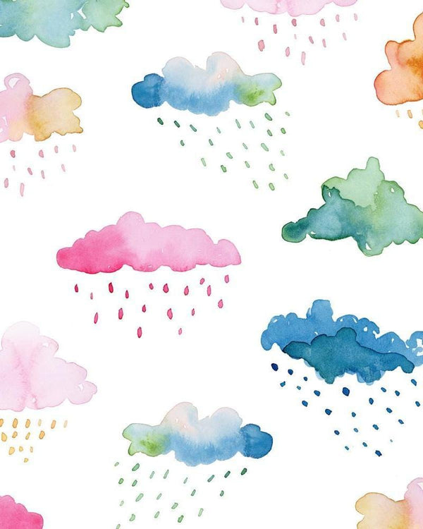 Watercolour Clouds Wall Tapestry