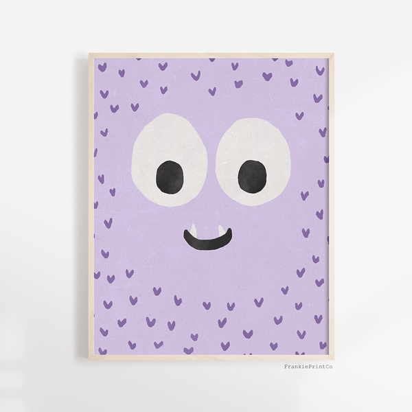 Purple Monster Art Print