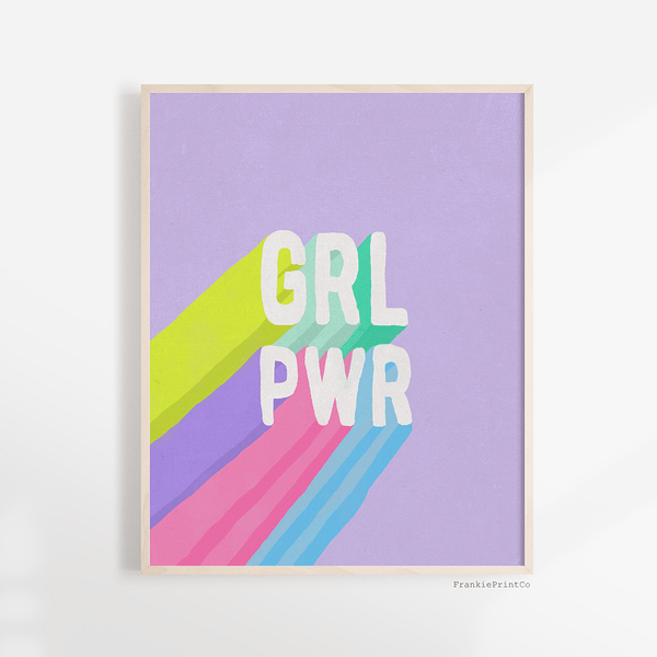 GRL PWR Art Print in Purple