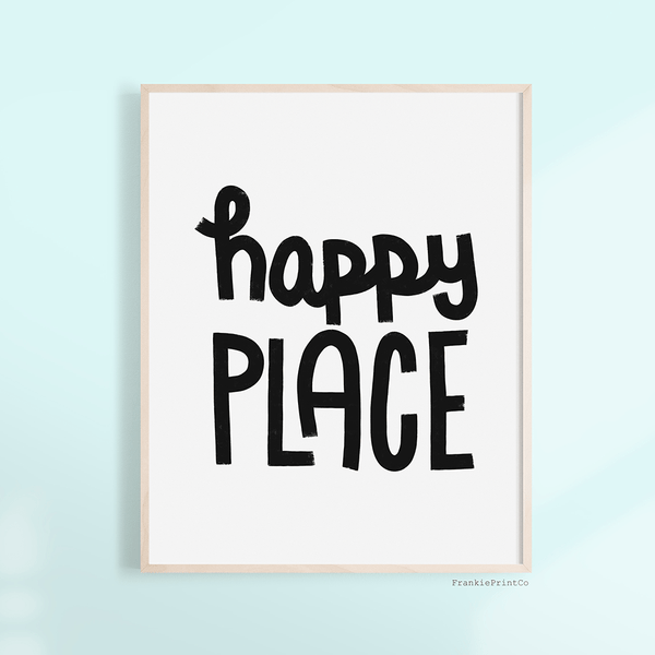 Happy Place Printable Wall Art