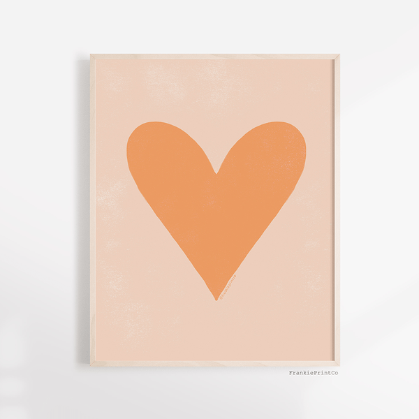 Peach Heart Printable Wall Art