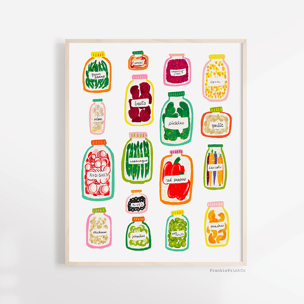 Jars of Vegetables Art Print