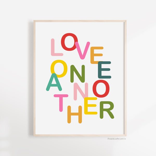 Love One Another x Color Printable Wall Art