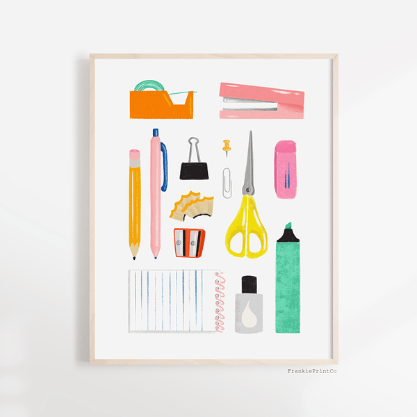 Office Supplies Printable Wall Art