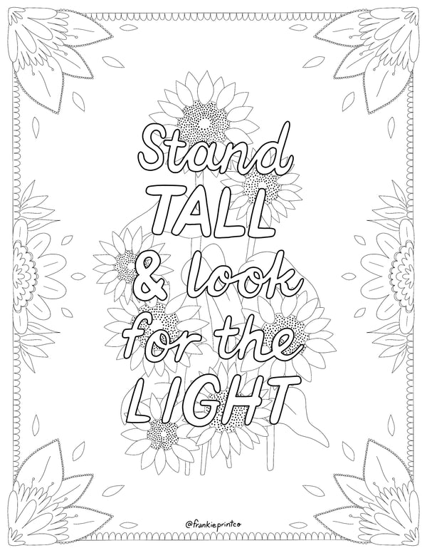 Stand Tall Coloring Sheet