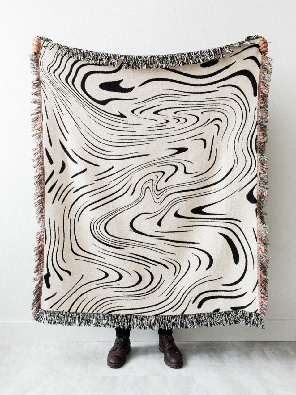 Marble Woven Throw Blanket