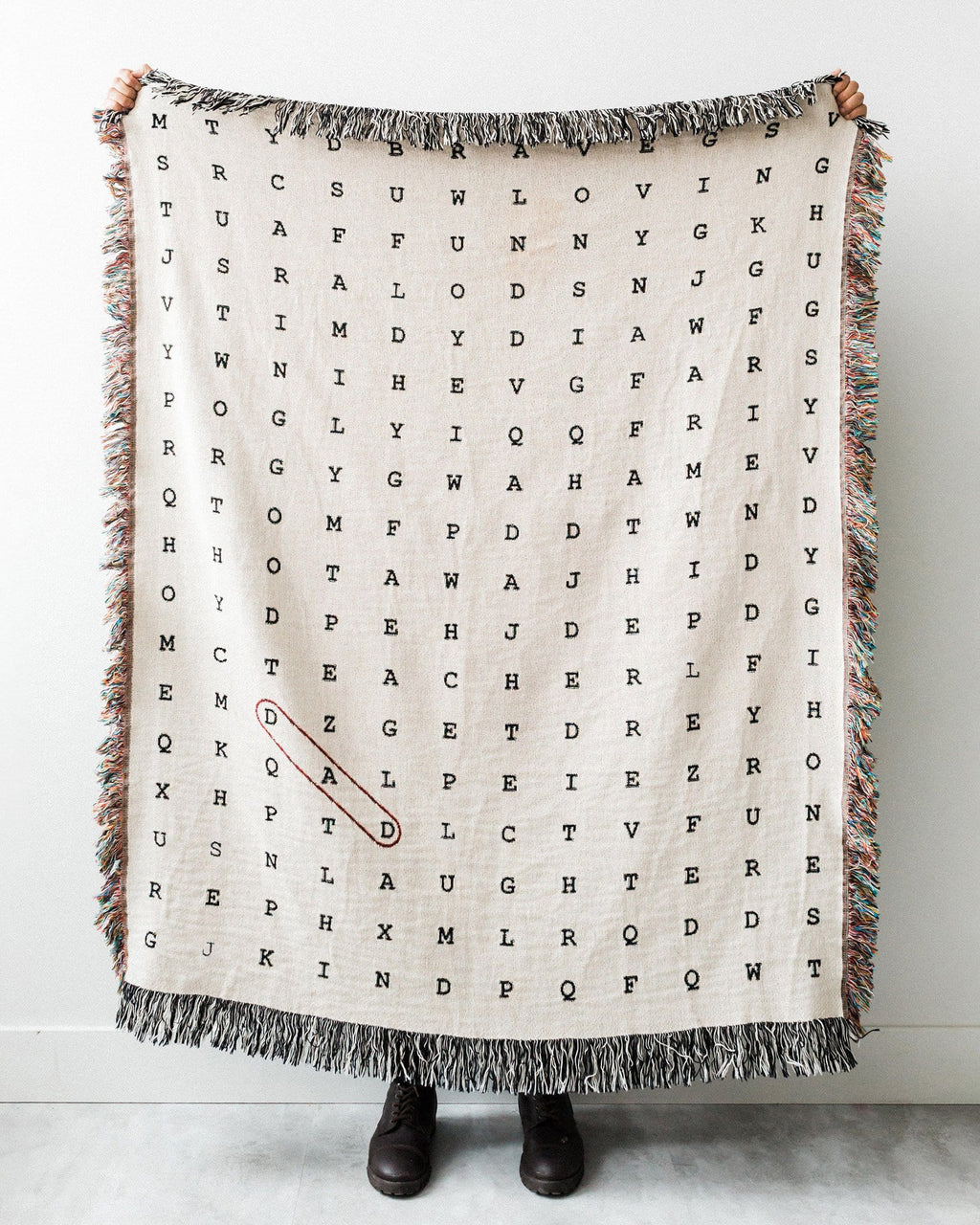 Word Search Throw Blanket