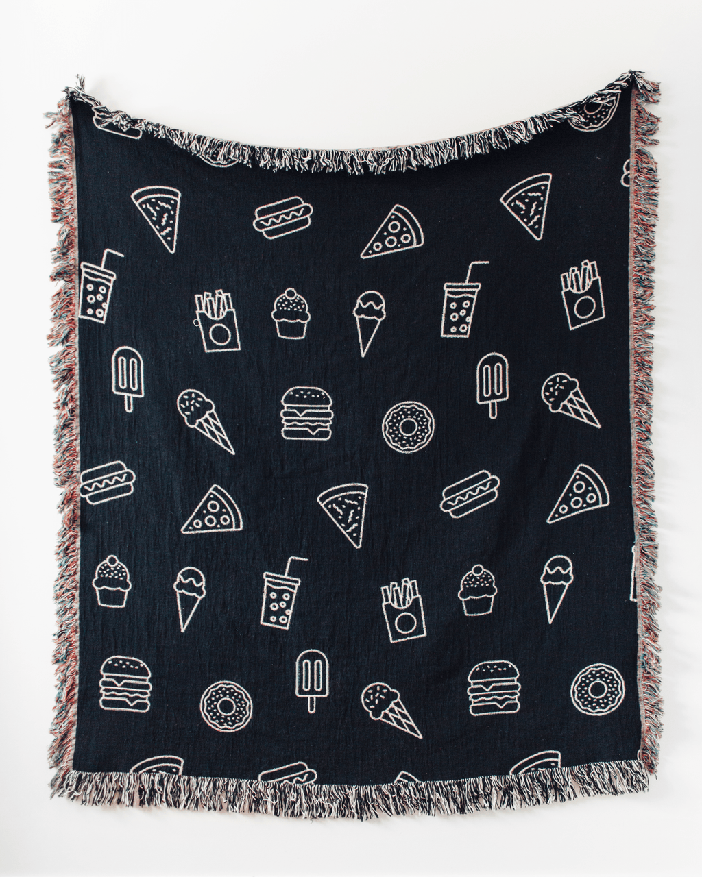 Junk Food Woven Throw Blanket