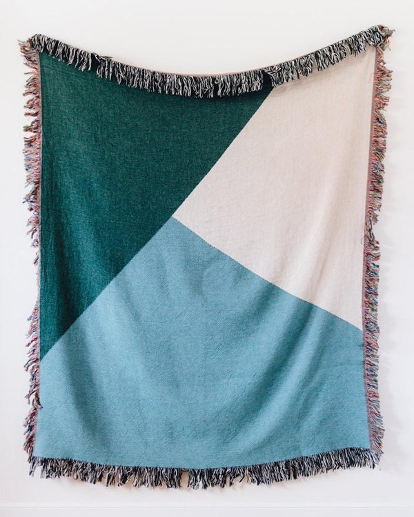Colour Block Blanket: Green + Blue