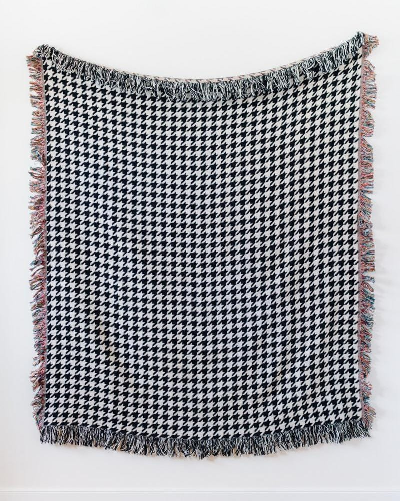 Houndstooth Woven Throw Blanket