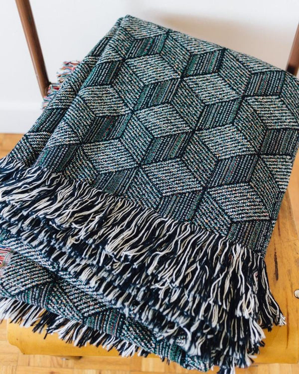 Geometric Woven Throw Blanket