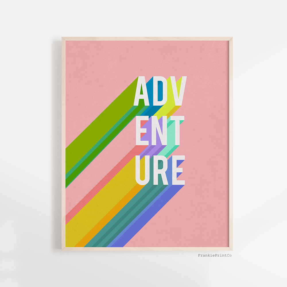 Adventure in Pink Art Print