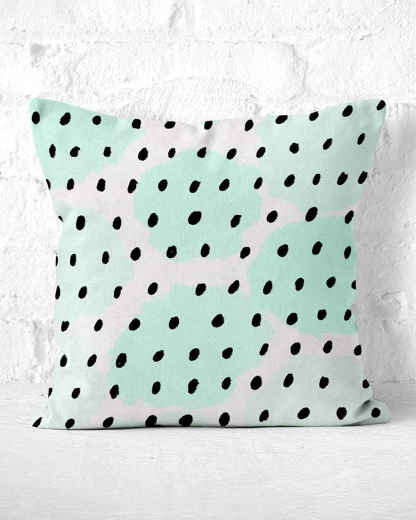 Mint Green Pillow, Watercolor Pillow, Abstract Pillow, Mint Dots Pillow, Minimal Throw Pillow, Cute Throw Pillow, Modern Throw Pillow, Dots