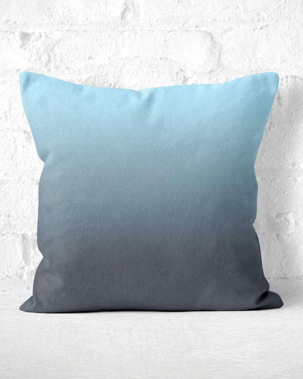 Blue Grey Throw Pillow, Ombre Throw Pillow, Blue Accent Pillow, Dip Dye Pillow, Gift for Her, Minimalist Pillow, Solid Color Pillow, Cushion