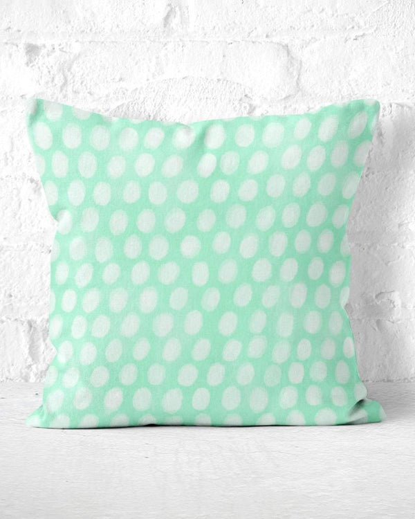 Mint Throw Pillow, Mint Dots Pillow, Watercolor Pillow, Mint Home Decor, Mint Nursery Decor, Cute Throw Pillow, Mint Toss Pillow, Mint Green