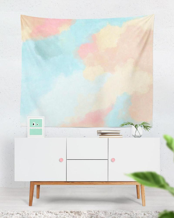 Abstract tapestry - Blush and Blue Tapestry Wall Hanging