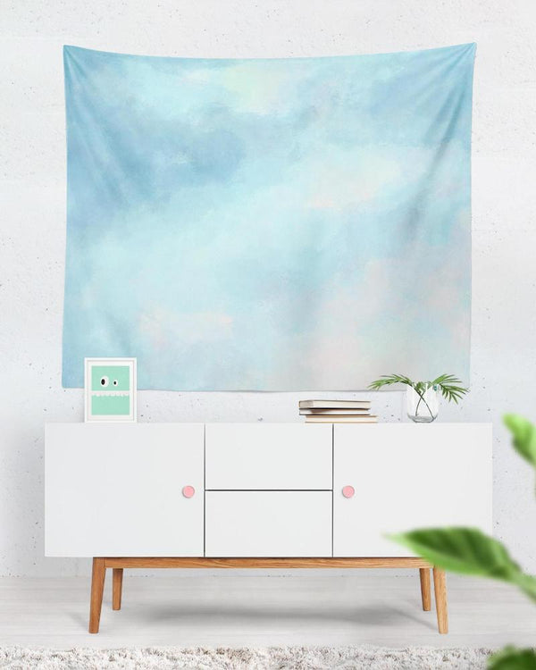 Light Blue Tapestry - Tapestry Watercolour for Light Blue Decor