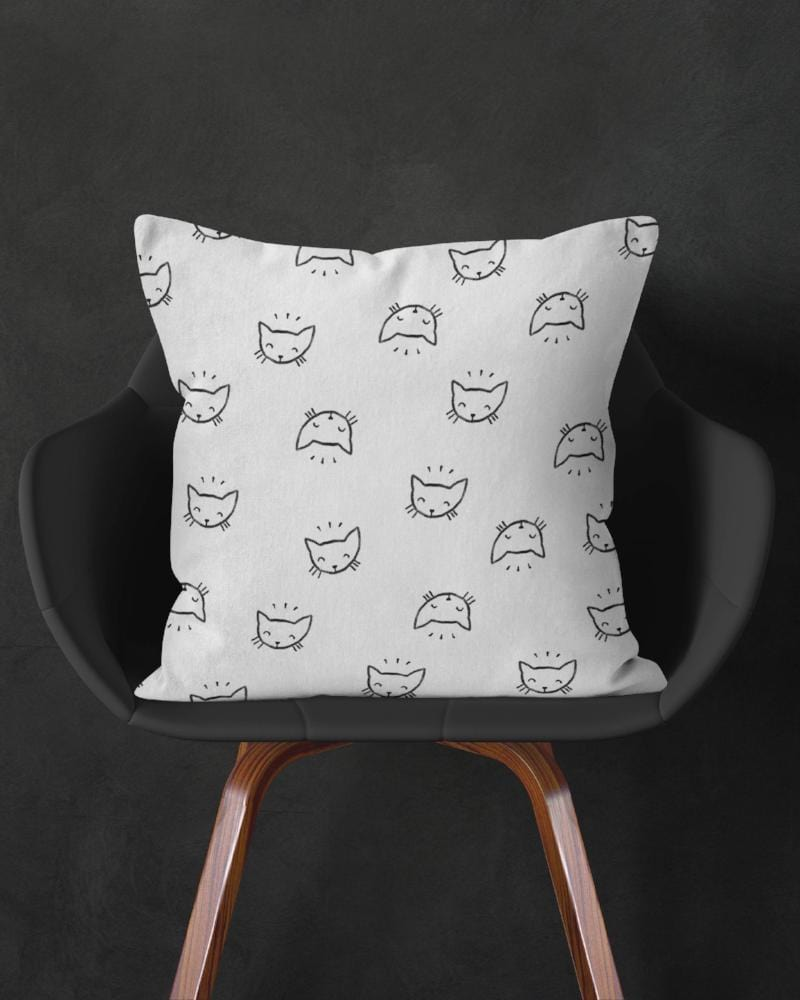 Cat Pillow, White Throw Pillow, White Black Pillow, Cute Pillow, Cat Throw Pillow, Cute Cat Decor, Modern Throw Pillow, Cat Cushion, Kitten