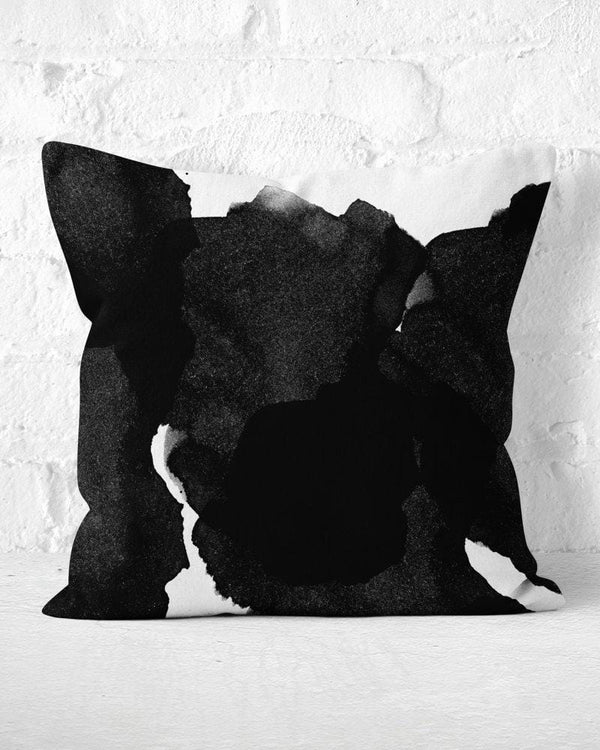 Black Ink Pillow, Watercolor Pillow, Black Throw Pillow, Abstract Pillow, Black Watercolor Pillow, Modern Throw Pillow, Black White Pillow