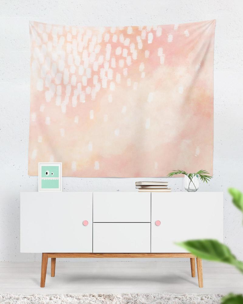 Blush Tapestry - Watercolor Artwork for Neutral Home Decor, Blush Home Decor