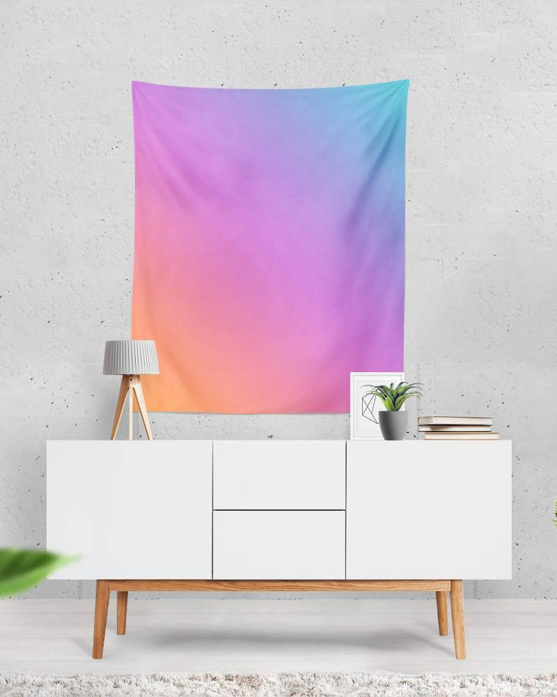 Ombre Tapestry - Bright Wall Art for Bright Decor, Dorm Room Wall Decor, College Dorm Decorations