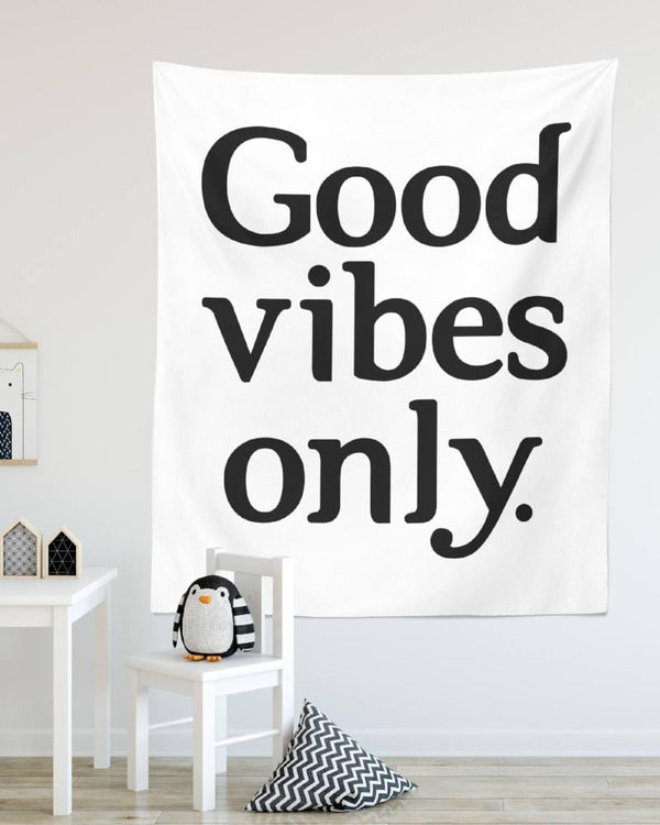 Good Vibes Only Tapestry - Typography Tapestry, Sayings Tapestry, Good Vibes Only, Wall Tapestry, Bedroom Tapestry, Modern Wall Tapestry