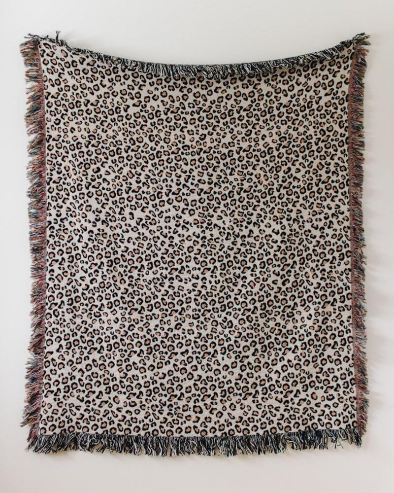 Leopard Print Blanket - 100% cotton woven throw blanket, animal print throw, animal print blanket, animal print decor, leopard print decor