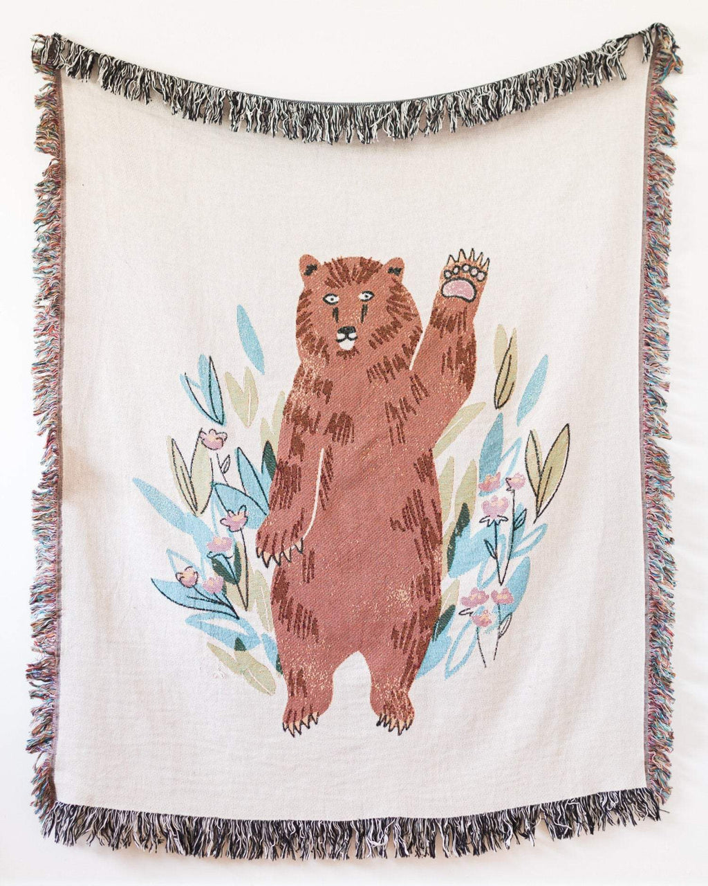 Waving Bear Throw Blanket