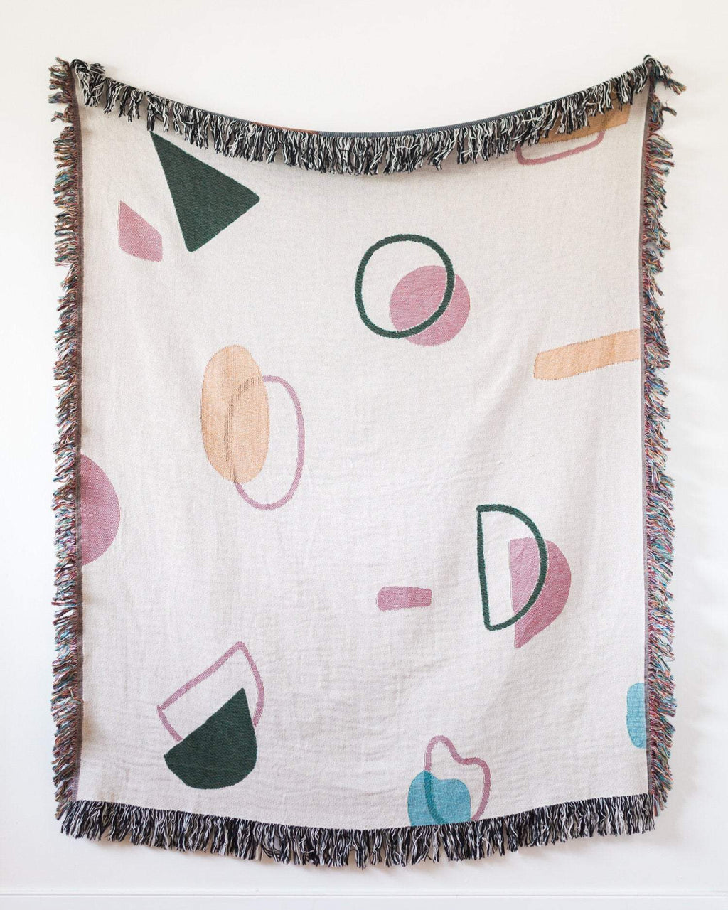 Abstract Woven Throw Blanket