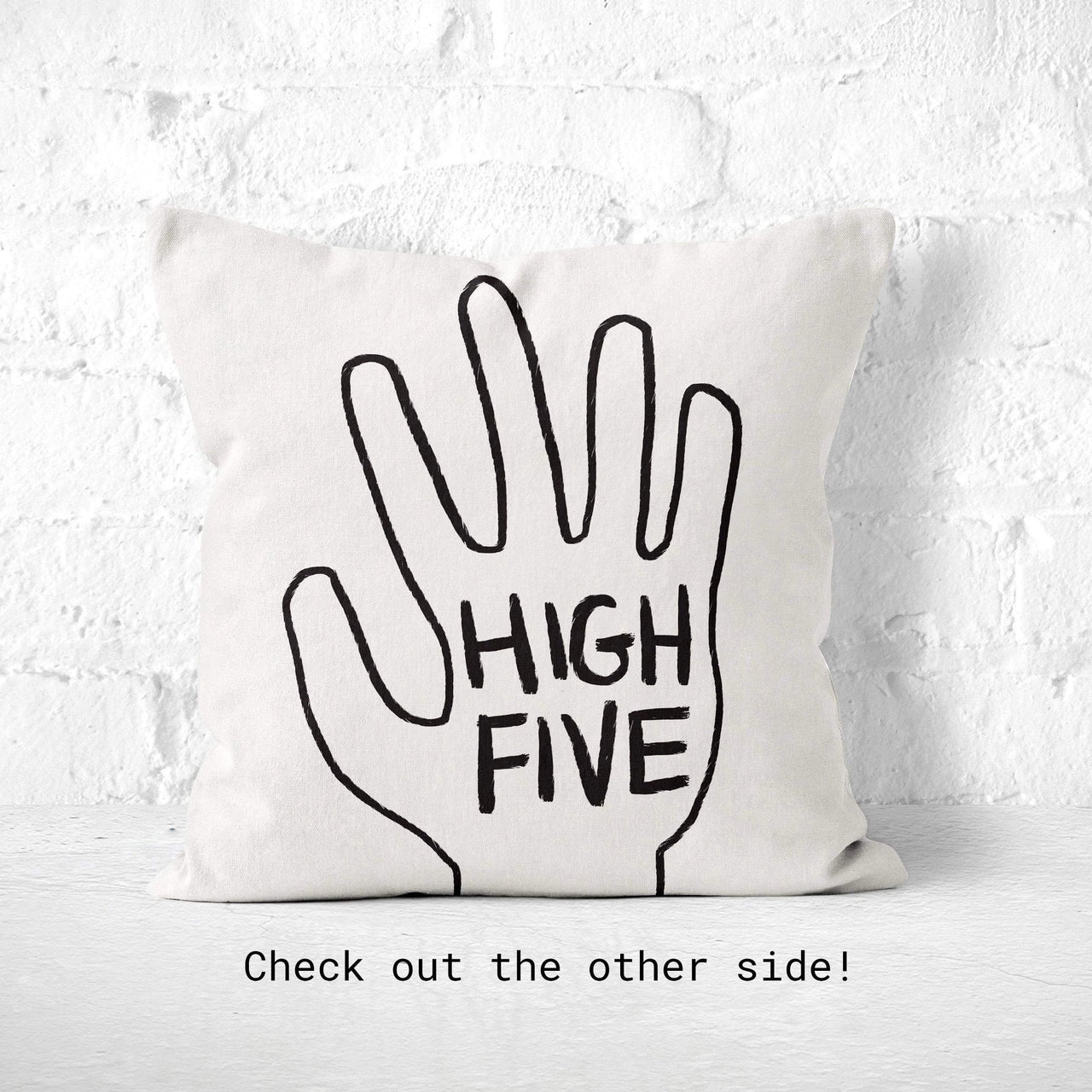 High Five Pillow: Funny Throw Pillow, Novelty Toss Cushion, Quirky Decor, Kids Room, Dorm Nursery