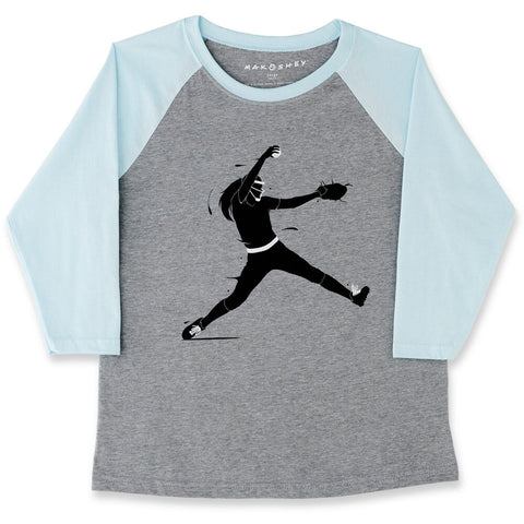 Image of Strike! Softball Raglan ¾ Sleeve T-Shirt