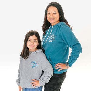 Feel Free To Be You Adult Hoodie Heather Deep Teal