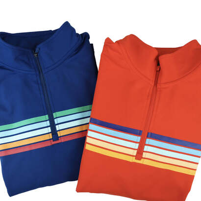 Image of Horizon Striped Royal Quarter Zip Active Pullover