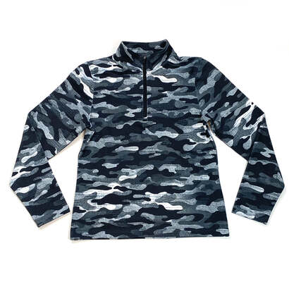 Image of Camo Quarter Zip Active Pullover