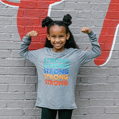 Image of Strong! Wear Your Character Long Sleeve T-Shirt