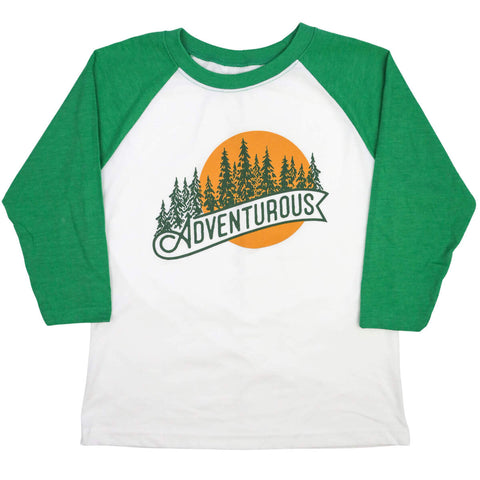 Adventurous! Wear Your Character Raglan ¾ Sleeve T-Shirt